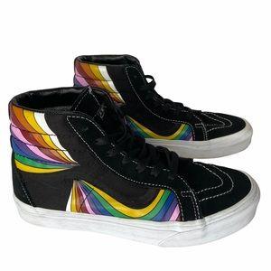 Vans SK8-HI reissue refract high top sneaker sz7.5